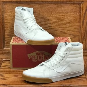 Vans Sk8 Hi Reissue Gum Bumper True White Shoes*